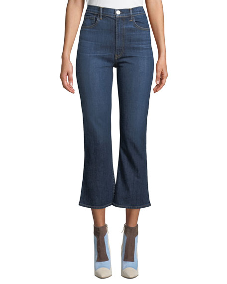 3x1 Empire High-Waist Flare-Leg Cropped Jeans