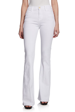 FRAME Le High Flare High-Rise Skinny Jeans