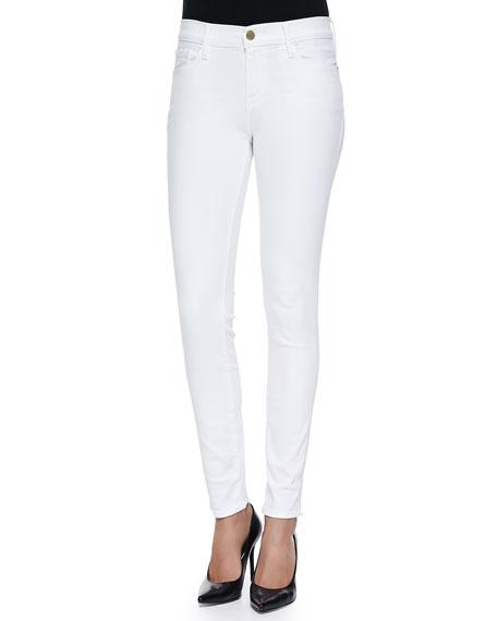 FRAME Le Color Skinny Denim Jeans, Blanc De