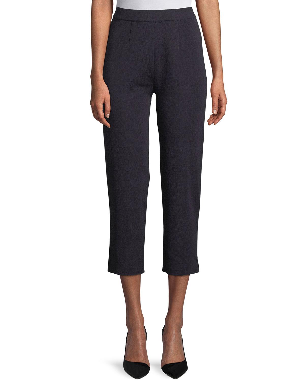 ae41ed76b9f Misook Plus Size Slim-Leg Knit Ankle Pants