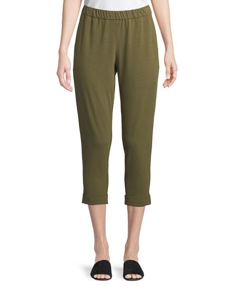 Eileen Fisher Plus Size Slim Organic Cotton Jersey