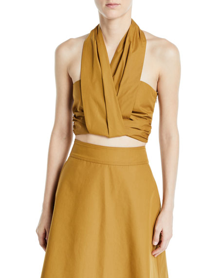 CAMILLA AND MARC Indira Cropped Halter Top