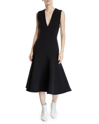 Ames V-Neck Sleeveless Crossed-Back Dress