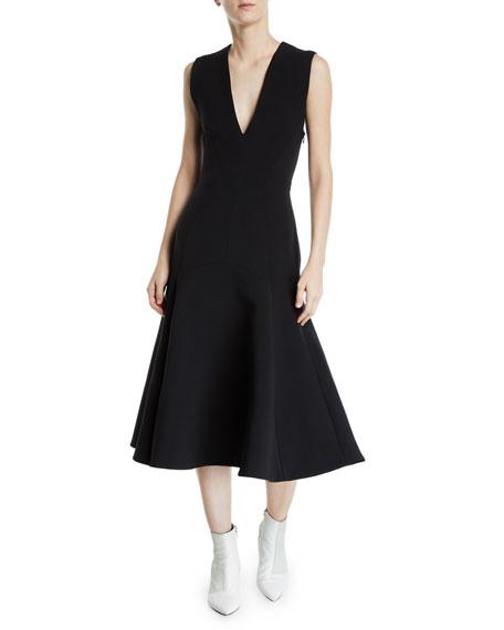 CAMILLA AND MARC Ames V-Neck Sleeveless Crossed-Back Dress