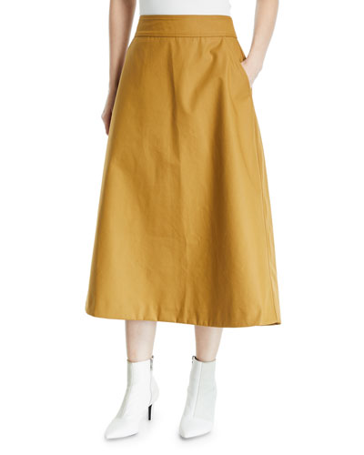 Clarence A-Line Midi Skirt