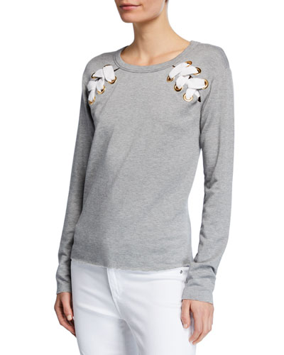Sea Worthy Lace-Up Sweatshirt