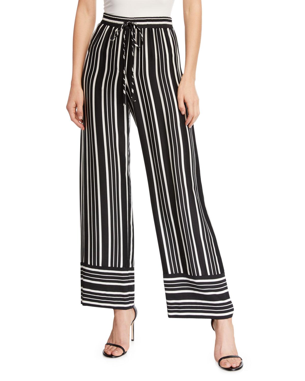 781b495f9621 Trina Turk Adonia 2 Straight-Leg Bossa Nova Drapey Striped Pants ...