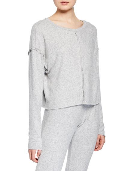 Weekend Crewneck Long-Sleeve Pullover in Gray