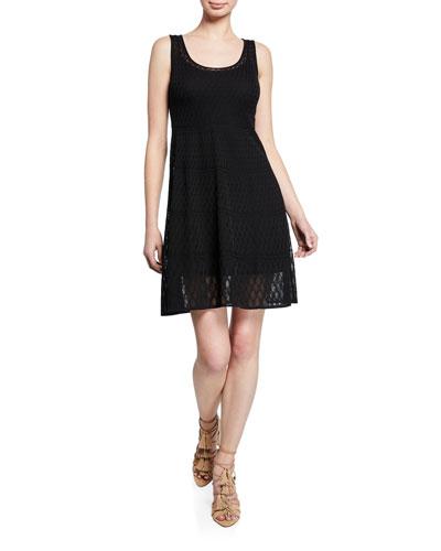 Sleeveless Scoop-Neck Knit Dress