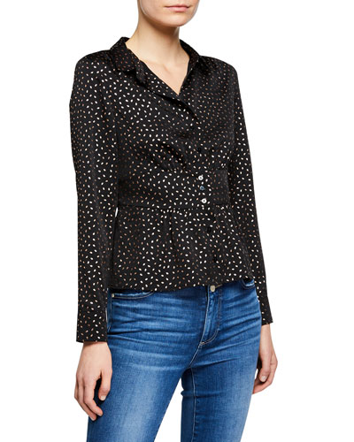 Glorio Printed Button-Front Shirt