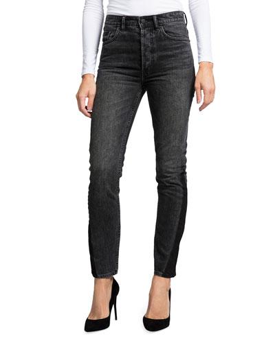 High-Waist Straight-Leg Ankle Jeans