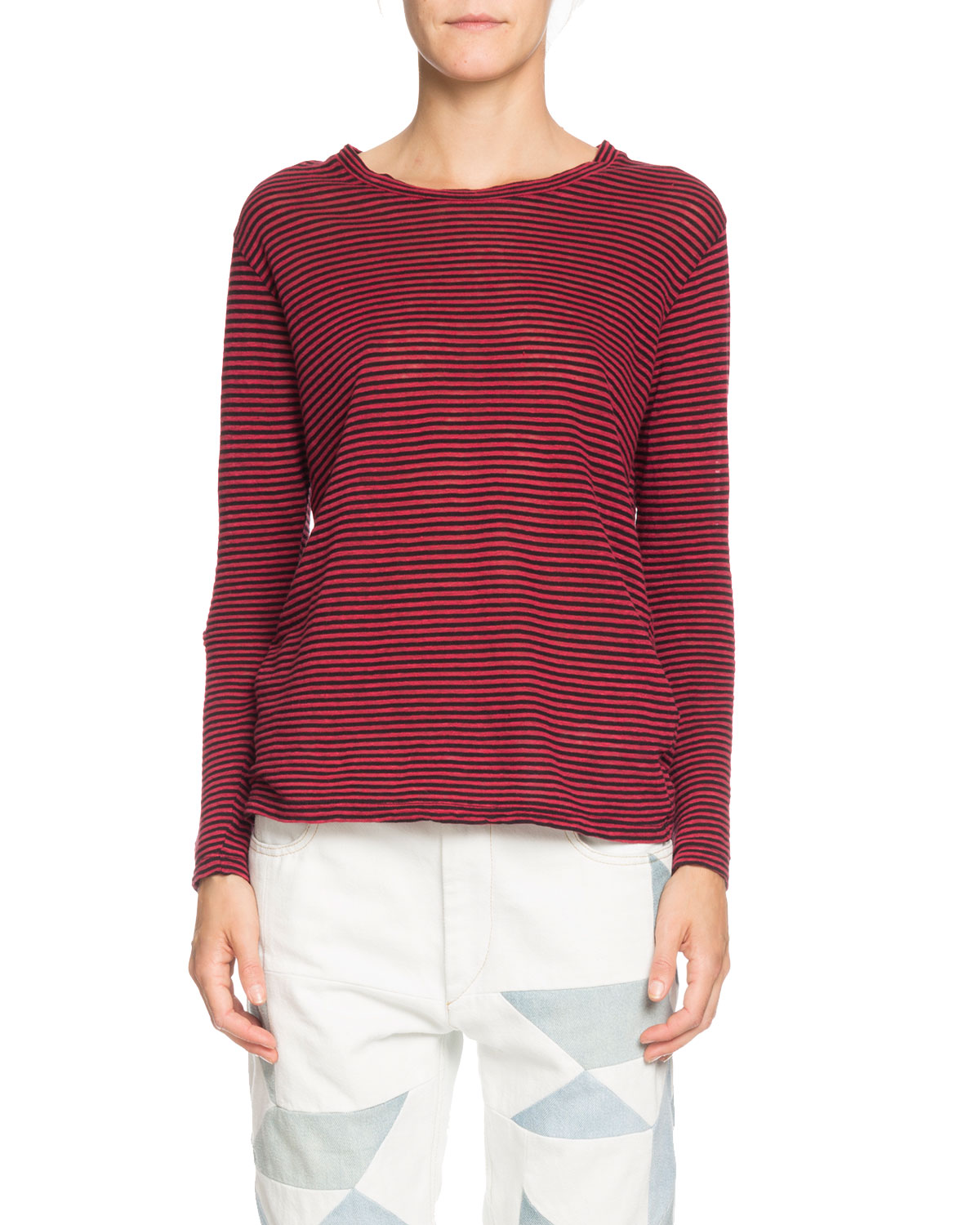 72097bf3900e Etoile Isabel Marant Kaaron Striped Jersey Long-Sleeve Tee