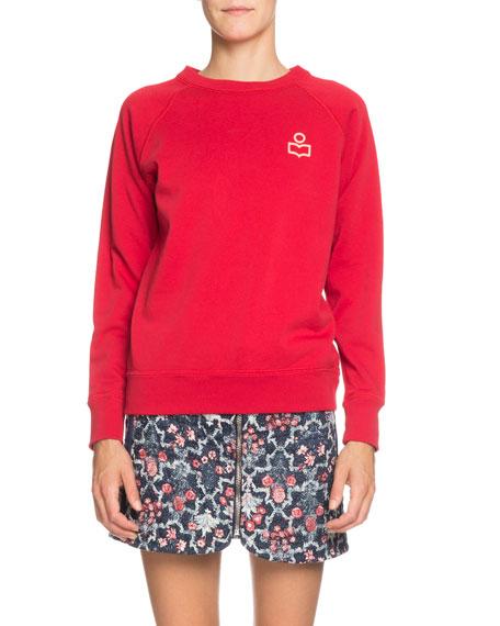 Etoile Isabel Marant Milly Logo Raglan Pullover Sweatshirt