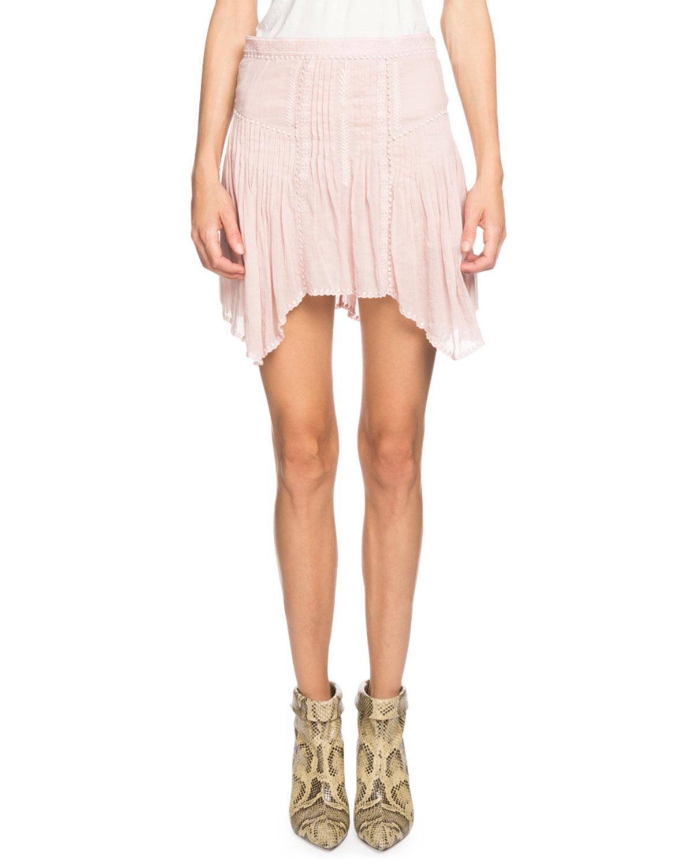 Akala Embroidered Asymmetrical Short Skirt by Etoile Isabel Marant