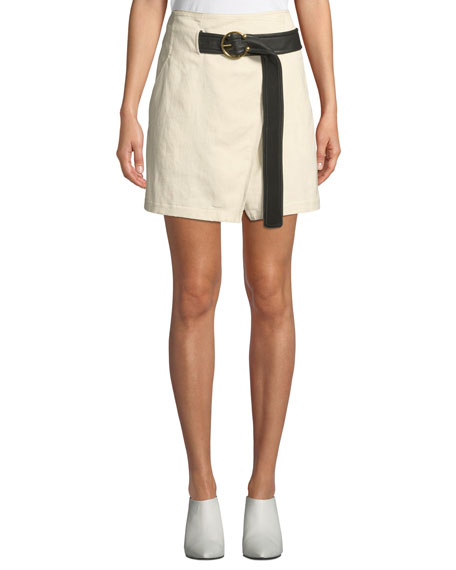 A.l.c CAMI BELTED WRAP SKIRT