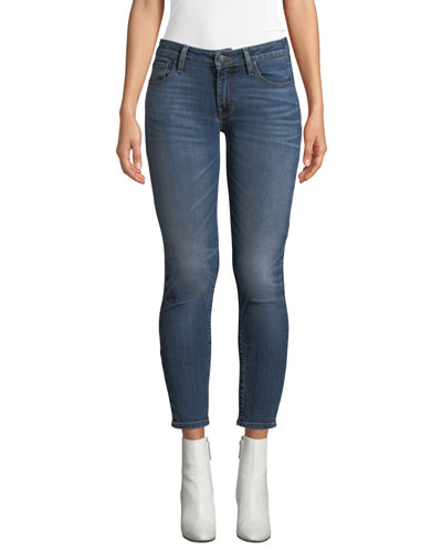Krista Distressed Skinny Ankle Jeans