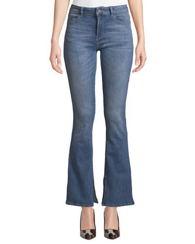 Bridget Mid-Rise Boot-Cut Jeans