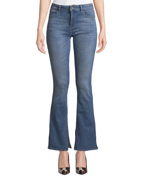 DL PREMIUM DENIM Bridget Mid-Rise Boot-Cut Jeans in Ares