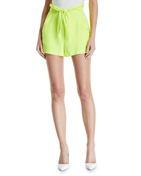 A.l.c Shorts KERRY HIGH-WAIST TIE-FRONT SHORTS
