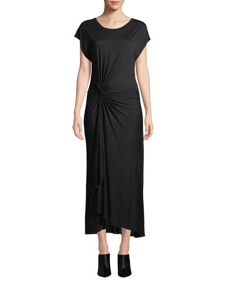A.l.c Dresses EMILE SHORT-SLEEVE RUCHED MAXI DRESS