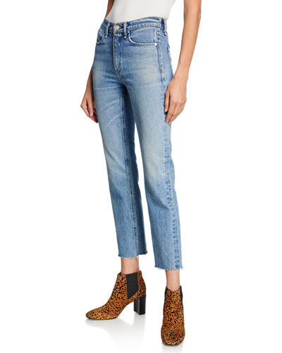 Ankle Cigarette Mid-Rise Cropped Jeans