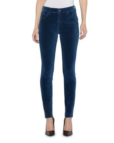 Ava Velvet Mid-Rise Skinny Jeans