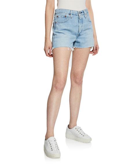 Levi's Shorts 501 HIGH-RISE CUTOFF DENIM SHORTS