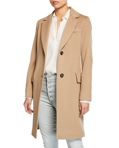Wool Two-Button Tailored Coat