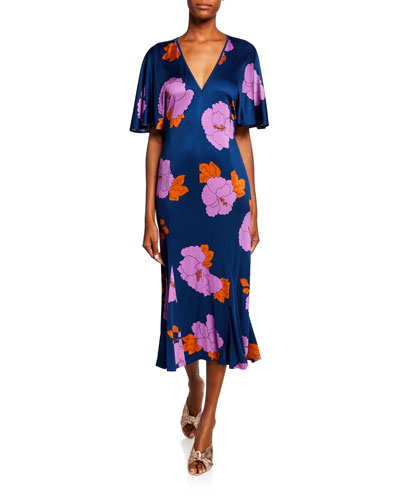 Valeria Floral-Print Midi Dress