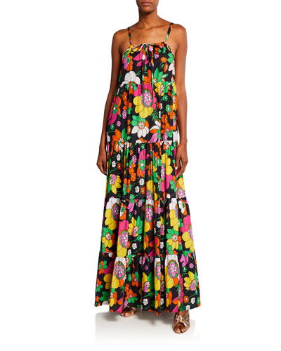 Dorothy Tiered Floral-Print Maxi Dress