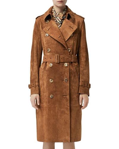 Haddington Suede Trench Coat