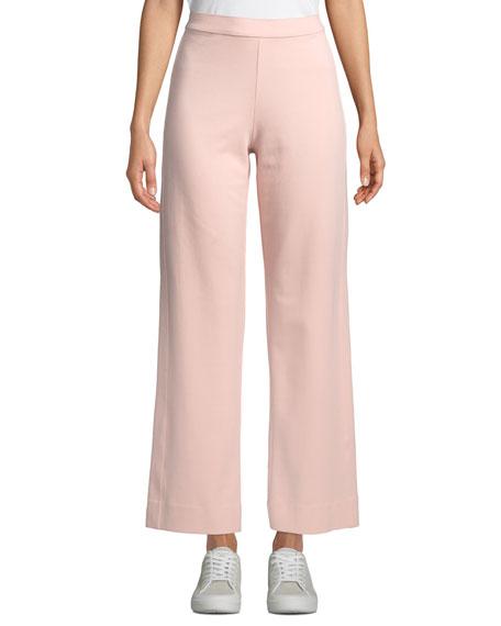 Joan Vass Ankle-Length Stretch Cotton Jog Pants