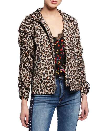 Sibila Leopard-Print Anorak Jacket