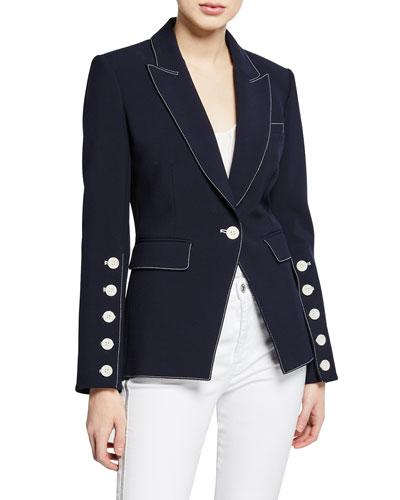 Steele Single-Button Dickey Jacket