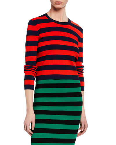 Broome Striped Cropped Sweater