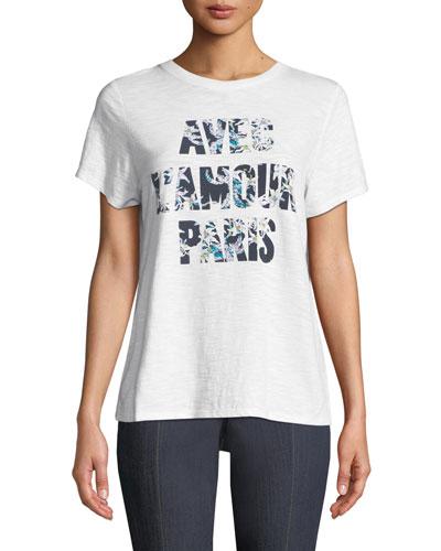 Avec L'amour Paris Graphic Crewneck Tee