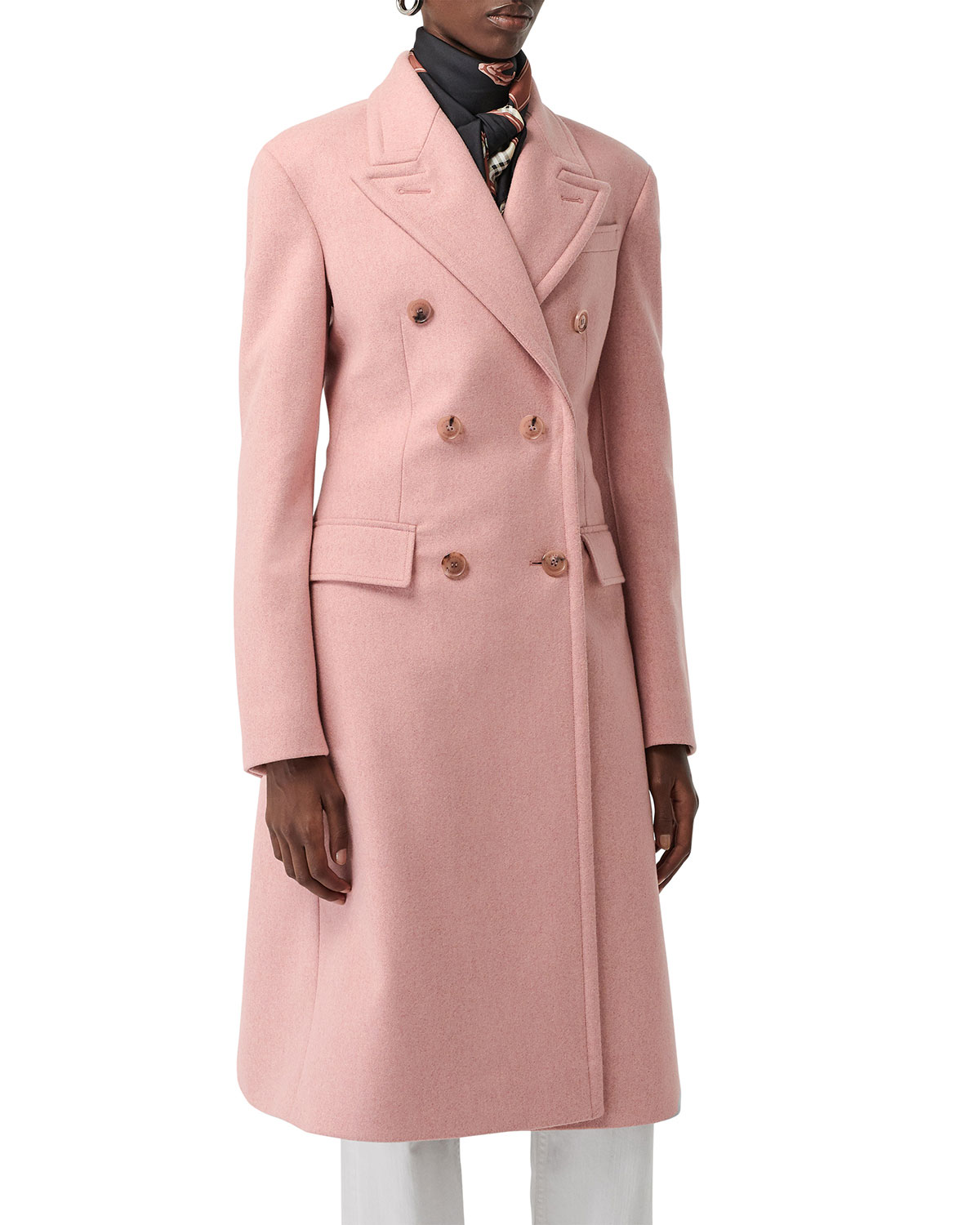 d3b1efe27ab5 Burberry Double-Breasted Wool Trench Coat