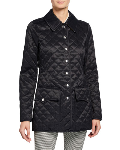 Borthwicke Diamond Quilted Snap Coat