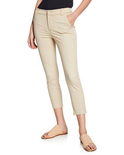 Straight-Leg Cropped Chino Pants