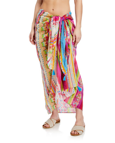 Betty Printed Cotton-Silk Sarong