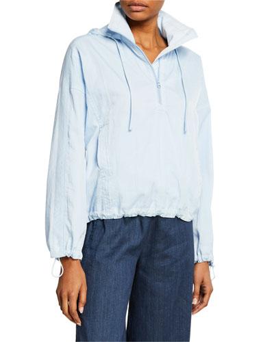Hooded Half-Zip Wind Jacket