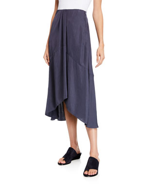 291424234c8 Vince Twist Drape Midi Skirt with Pockets