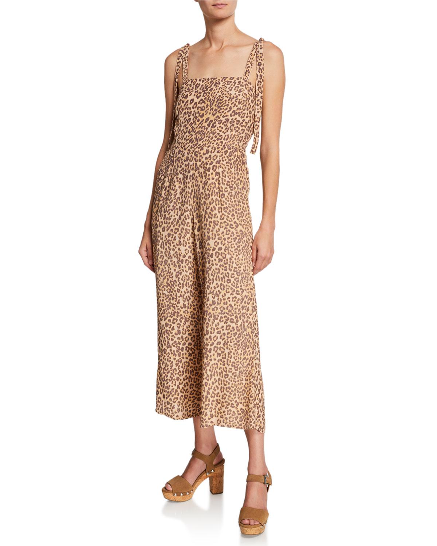 fde80151fdff9 Faithfull the Brand Elsa Sleeveless Leopard-Print Wide-Leg Jumpsuit ...