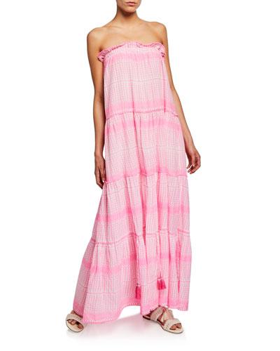 Luella Embroidered Cotton Maxi Dress