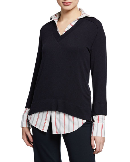 Bailey44 Knits TWOFER LAYERED KNIT SWEATER TOP