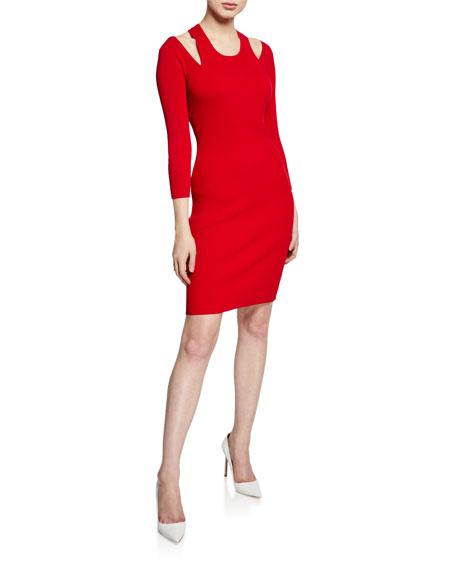 Bailey 44 Savoir Faire 3/4-Sleeve Sweater Dress with