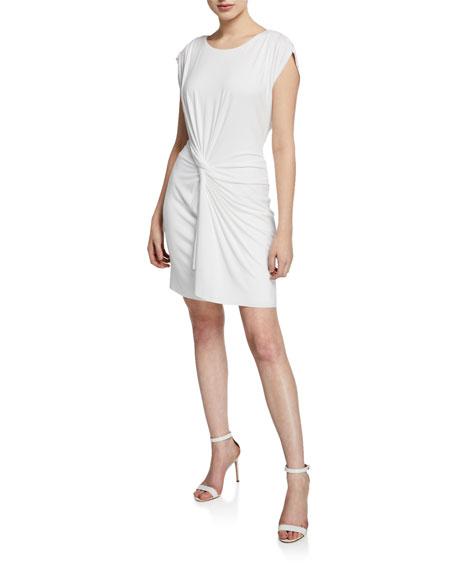 Bailey44 Dresses DERNIER CRI SHORT-SLEEVE TWIST-FRONT JERSEY DRESS