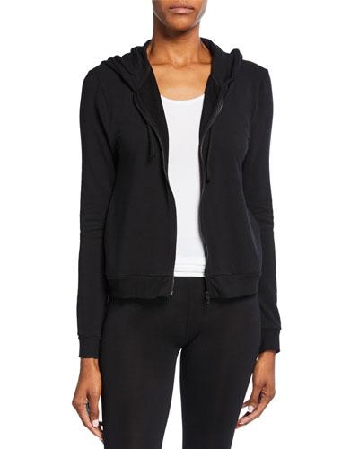 Zip-Front Long-Sleeve Hoodie Jacket