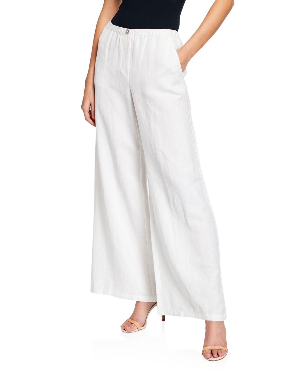 Niczoe Refreshed Wide Leg Linen Pants Neiman Marcus