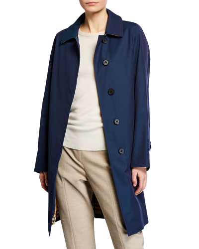 Camden Check Undercollar Car Coat